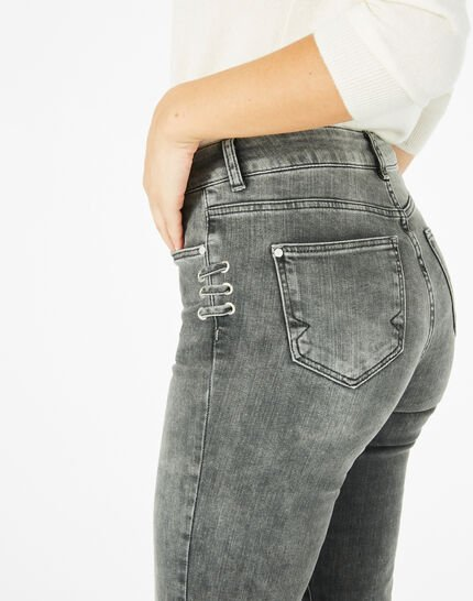 Graue 7/8-Jeans mit Schnüren Nolan (2) - 1-2-3