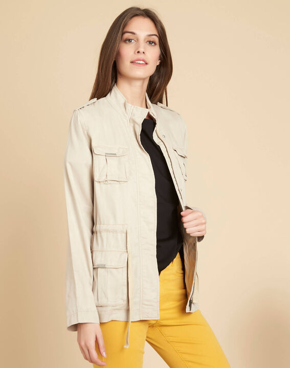 Casa off-white jacket with pockets (3) - 1-2-3