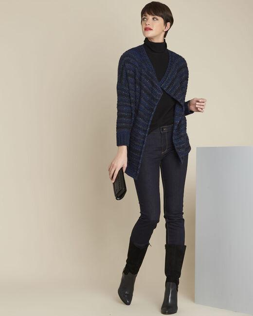 Blauw gestreept vest Back (1) - 37653