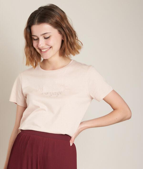 Tee-shirt sérigraphié rose Rio PhotoZ   1-2-3