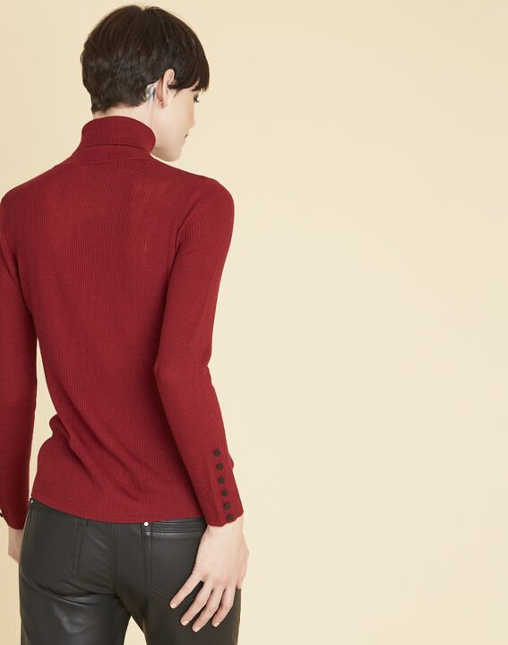 Basile red polo neck sweater in a wool blend (4) - Maison 123