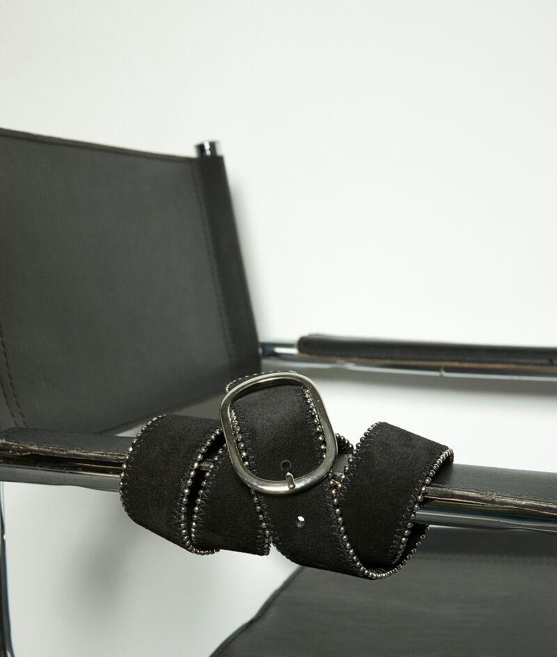 Ceinture noire en cuir bordé de clous Jasmine PhotoZ | 1-2-3
