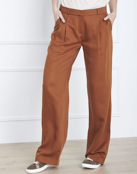 Pantalon marron large Giovanni (2) - Maison 123