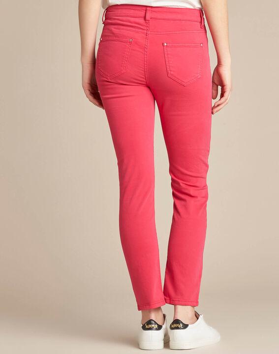 Fuchsienrote Slim-Fit-Jeans normale Leibhöhe Vendome (4) - 1-2-3