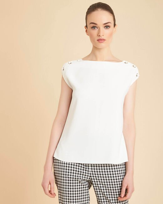 Germina ecru blouse with eyelets and laces (2) - 1-2-3
