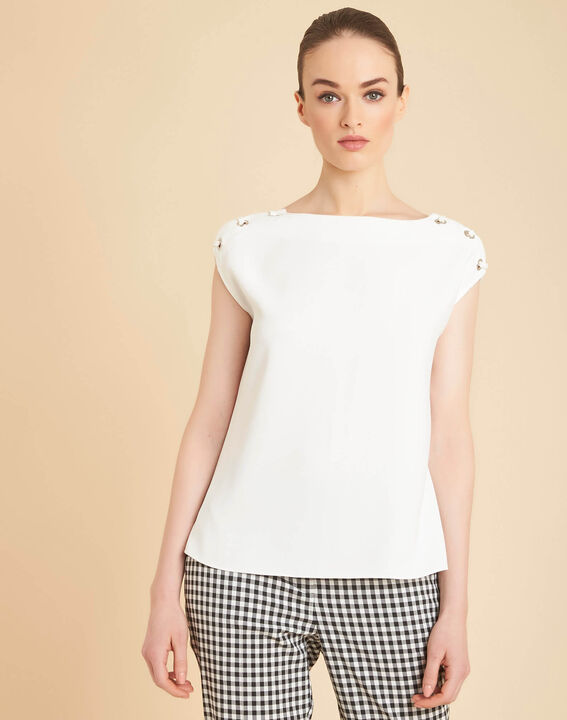 Germina ecru blouse with eyelets and laces (3) - 1-2-3