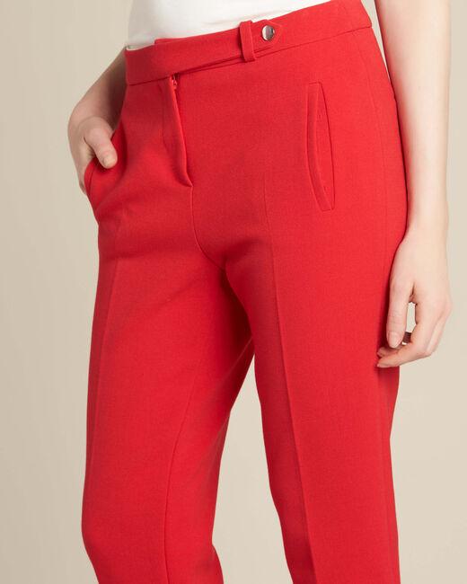Pantalon rouge de tailleur slim Lara (2) - 1-2-3