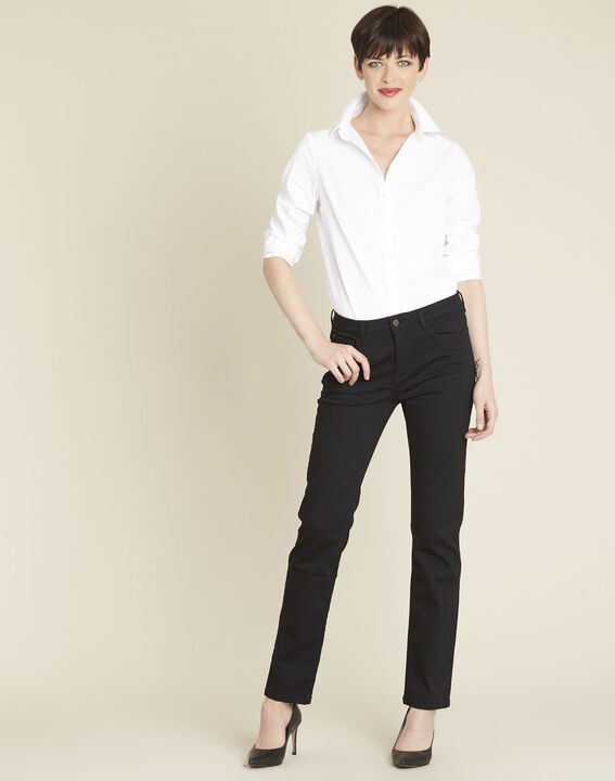 Vivienne straight black jeans (2) - 1-2-3