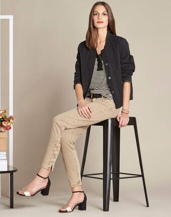 Vendôme 7/8th length slim-cut camel jeans camel.