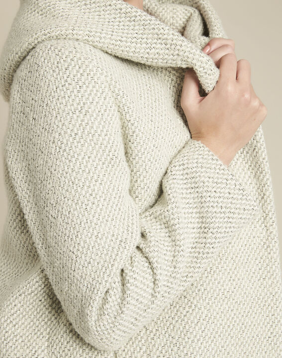 Manteau écru capuche laine mélangée Erwin (3) - 1-2-3