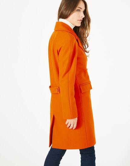 Orangefarbener Wollmantel Justin (2) - 1-2-3