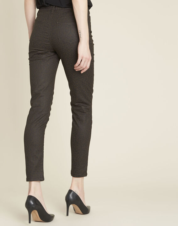Jean anthracite slim motif léopard Vendome (4) - 1-2-3