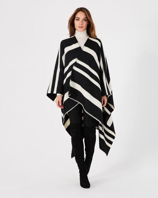 Poncho noir et blanc Eldorado (1) - 1-2-3