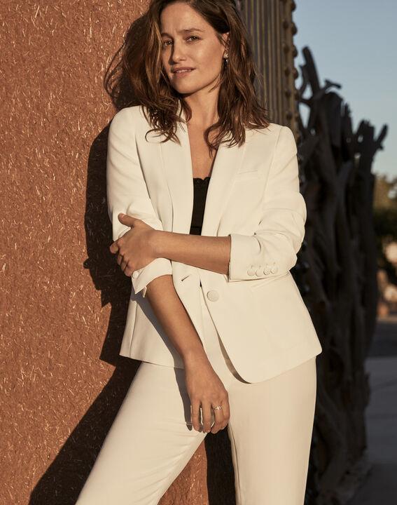 Weiße Jacke mit Schal-Kragen Sabrina (1) - Maison 123