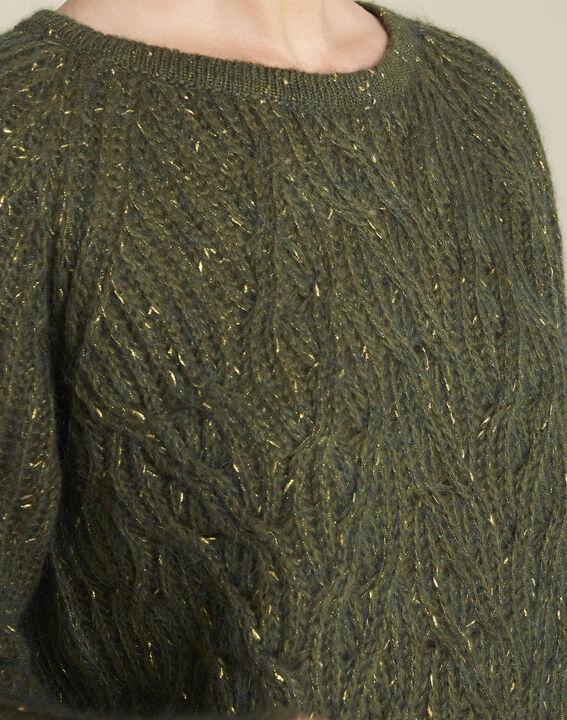 Baroudeuse iridescent khaki mohair pullover (3) - 1-2-3
