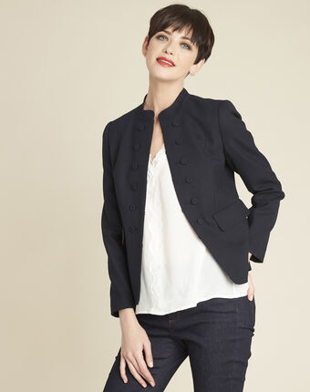 Soane navy jacket with stylish buttons navy.
