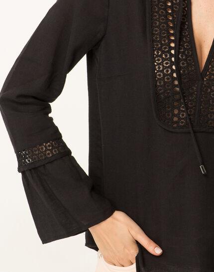 Edelys black cotton blouse (2) - 1-2-3