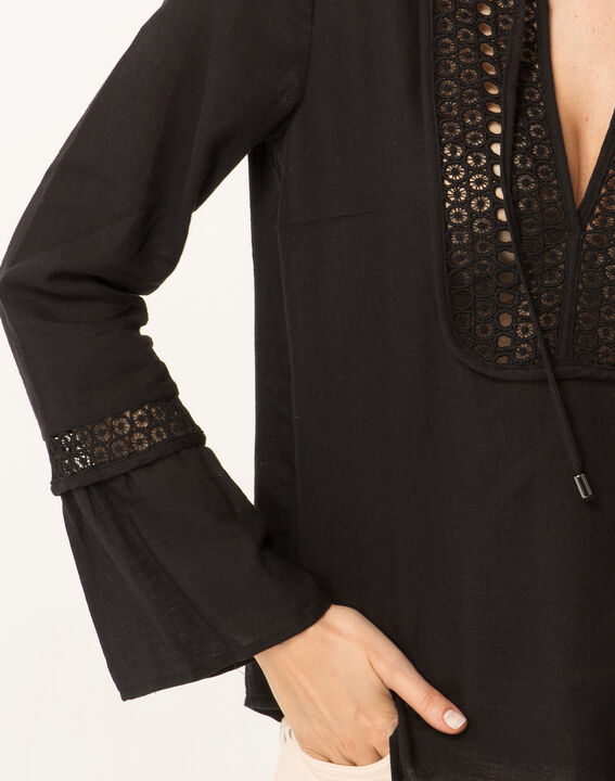 Edelys black cotton blouse (2) - 1-2-3