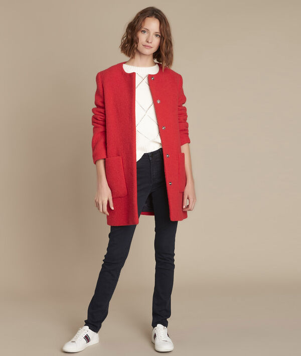 Manteau en laine rouge Emma PhotoZ | 1-2-3
