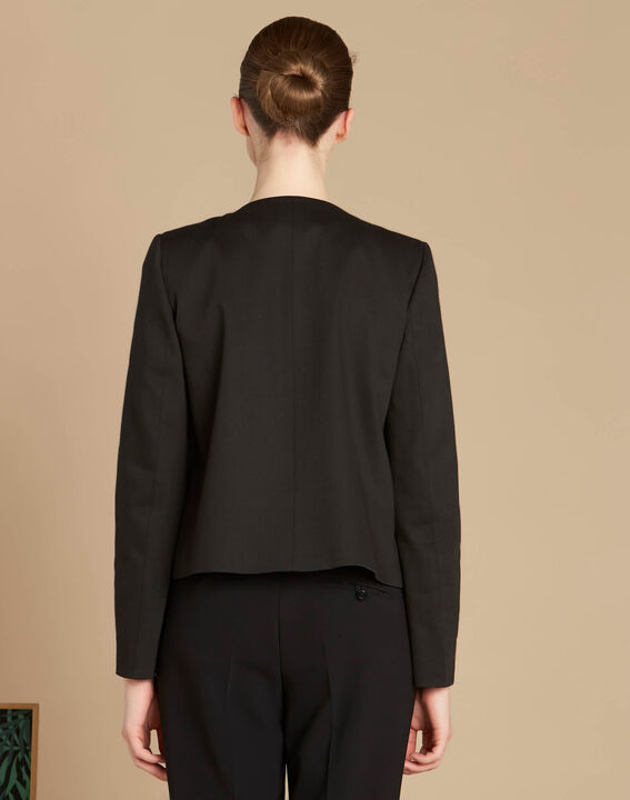 Veste noire courte ruban à nouer Calice (4) - 1-2-3