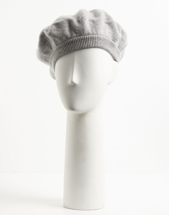 Graue Baskenmütze aus Kaschmir Ustave (1) - 1-2-3