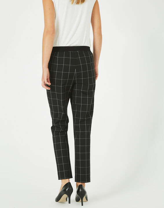 Voltage black and white check tailored trousers (4) - 1-2-3
