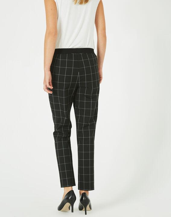 Pantalon de tailleur noir et blanc à carreaux Voltage (4) - 1-2-3