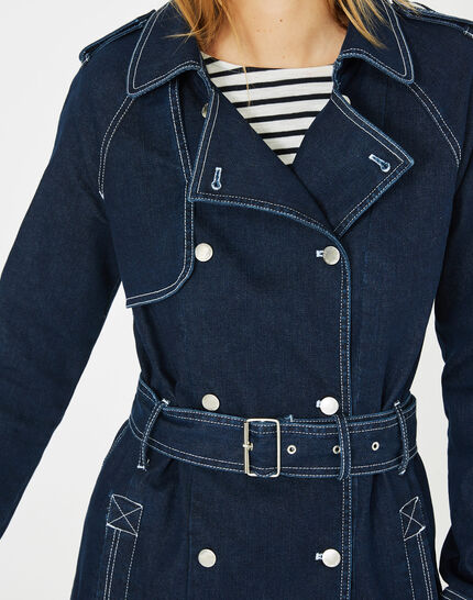 Trench en denim brut Melinda (2) - 1-2-3