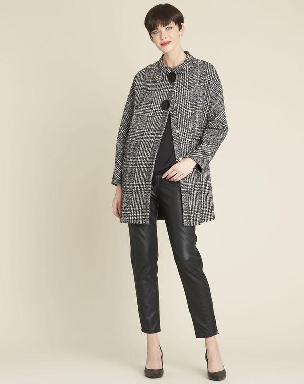 Manteau à carreaux boutons contrastés Elora (1) - 1-2-3