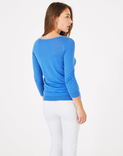 Pétillant royal blue sweater with metallic threading (5) - 1-2-3
