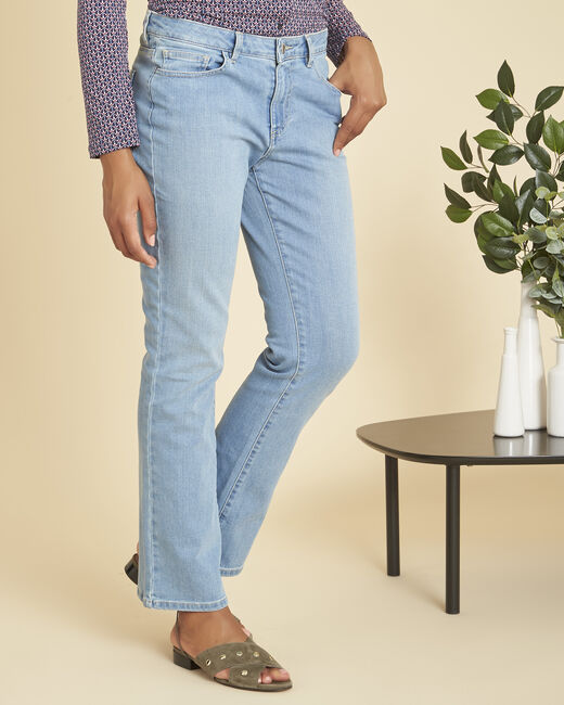 Jean indigo clair bootcut taille normale Victor (2) - 1-2-3