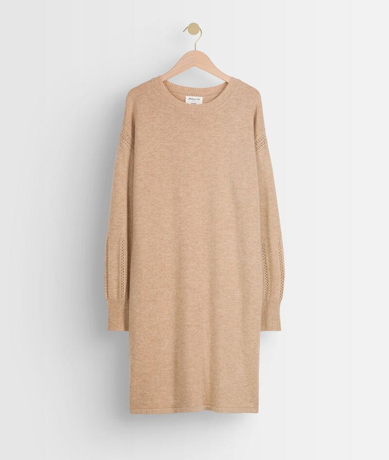 Robe pull beige en laine Tabata PhotoZ   1-2-3