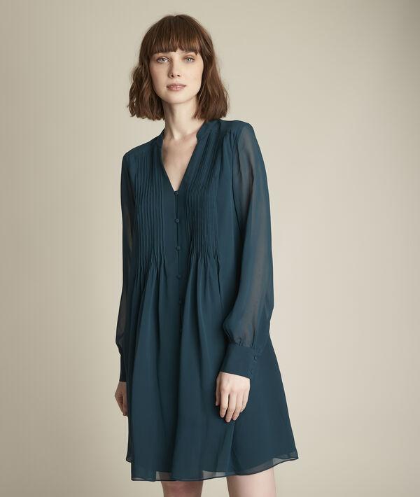 Robe en soie plissée Coralie PhotoZ | 1-2-3