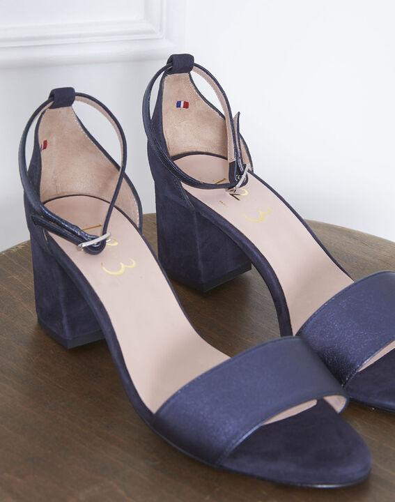 Sandales ouvertes bleues en cuir Khloe (3) - Maison 123