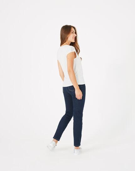 Tee-shirt écru bi-matière Beryl (5) - 1-2-3
