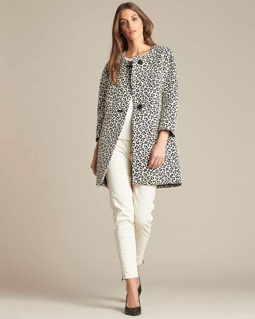 Kelly jacquard jacket in leopardskin print (1) - 1-2-3