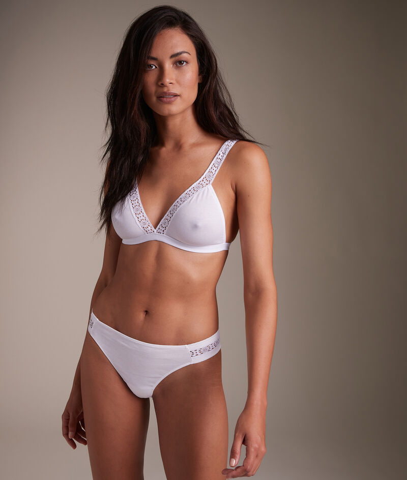 Tanga en pur coton responsable blanc Ninon PhotoZ | 1-2-3