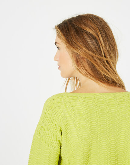 Pop yellow sweater with stunning stitchwork (3) - 1-2-3
