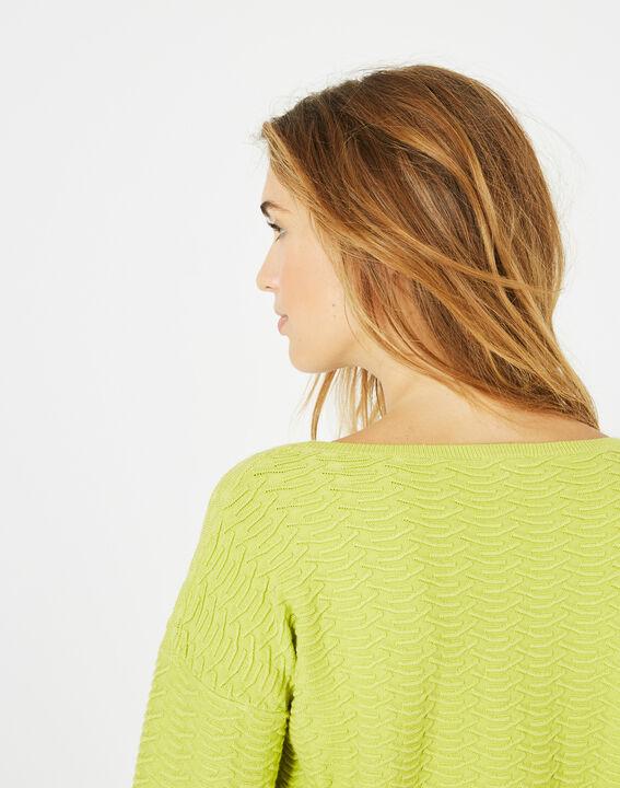 Pop yellow sweater with stunning stitchwork (3) - 1-2-3
