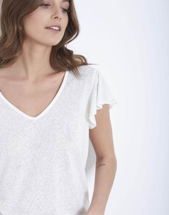 Tee-shirt écru à volants Palma (3) - Maison 123