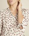Nude blouse met verenprint Cynthia (3) - 37653