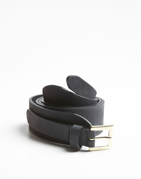 Quoala patterned belt in black leather (2) - 1-2-3