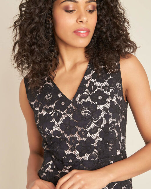 Istory black straight-cut lace dress (1) - 1-2-3