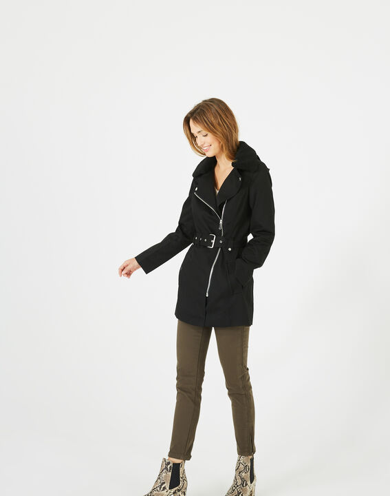 Jenna black long parka (2) - 1-2-3