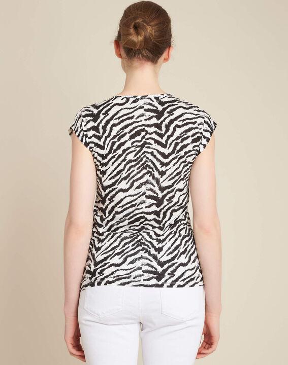 Ete animal print T-Shirt with decorative neckline (4) - 1-2-3