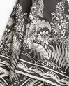Carré de soie kaki imprimé arabesque et fleur Alak (1) - 1-2-3