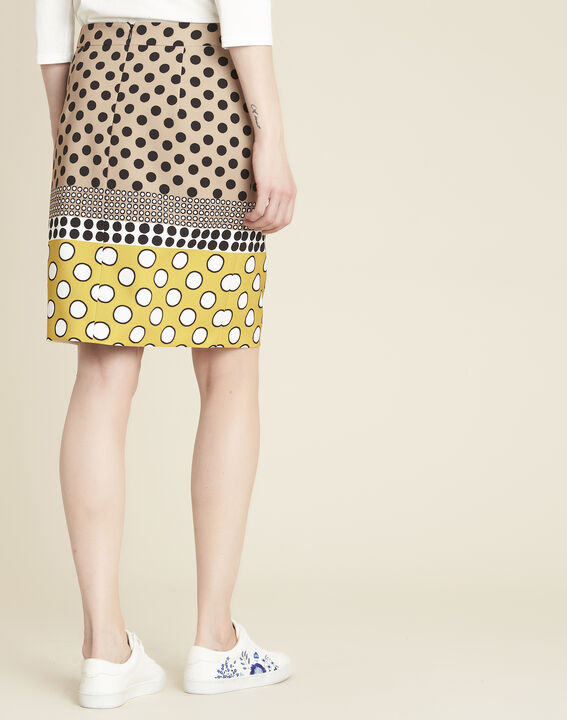 Kurtys yellow polka dot printed skirt (4) - 1-2-3