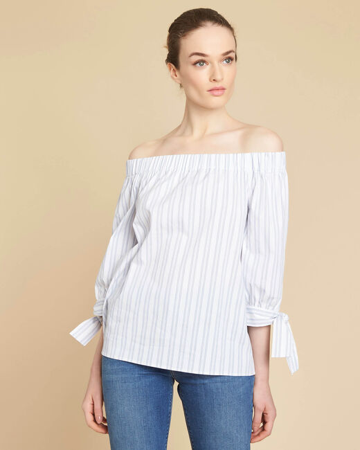 Emilie off-the-shoulder striped blouse (2) - 1-2-3