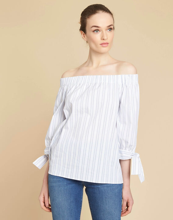 Emilie off-the-shoulder striped blouse (3) - 1-2-3