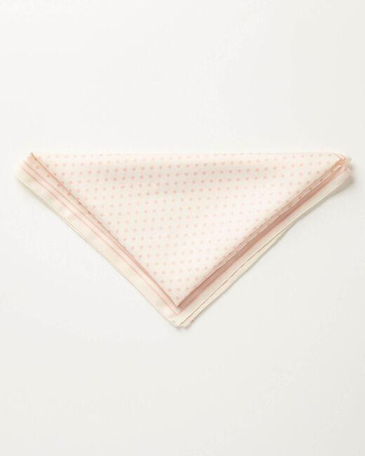 Ecru vierkant sjaaltje met bolletjes Adelita (1) - 37653